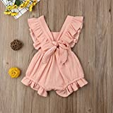 VISGOGO Toddler Baby Girl Ruffled Rompers