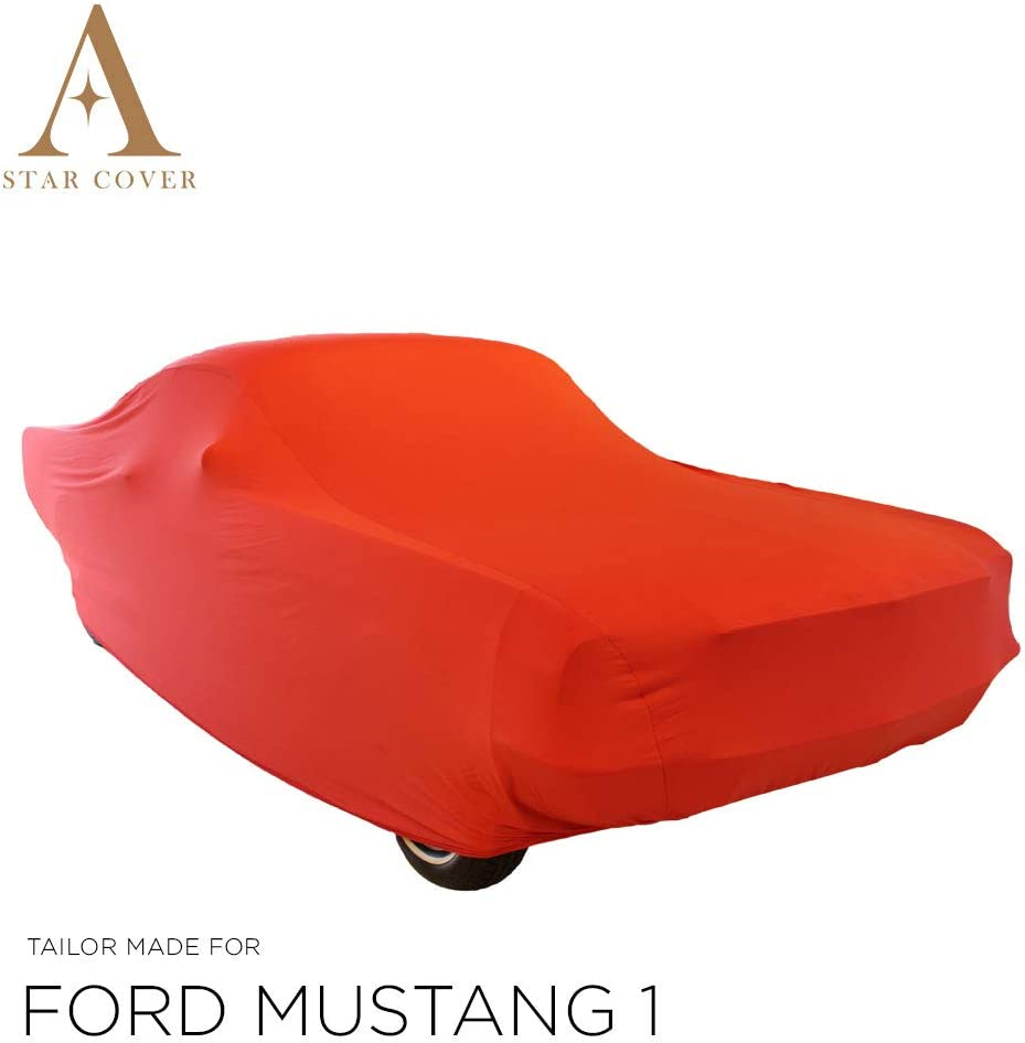 Voiture DE Sport Star Cover Housse INT/ÉRIEUR Compatible avec Ford Mustang 1 Fastback B/ÂCHE Auto Garage Rouge Housse Oldtimer LIVR/É Rapide Housse Cabriolet