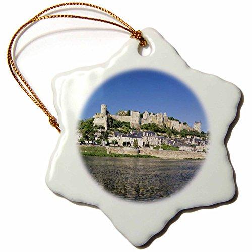 (3dRose France, Chinon, Loire Valley, River Vienne, Chateau-EU09 DBN0737-David Barnes Snowflake Ornament)