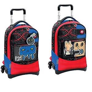 Giochi Preziosi Gopop 19 Zaino Trolley Click Nightmare Sacca, 54 cm, Multicolore 1 spesavip