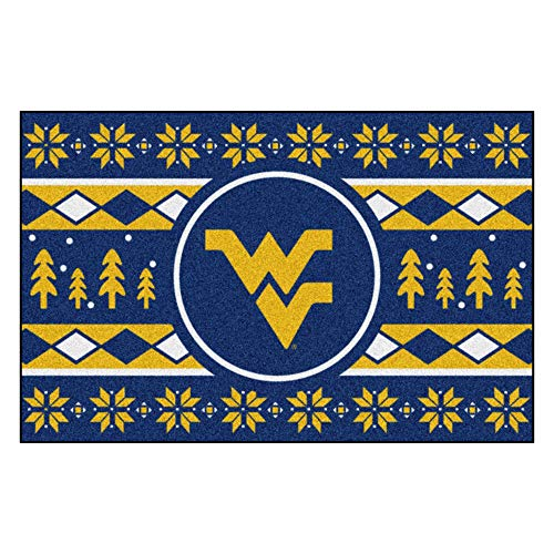Fanmats NCAA Holiday Sweater Starter Rug, West Virginia, 19