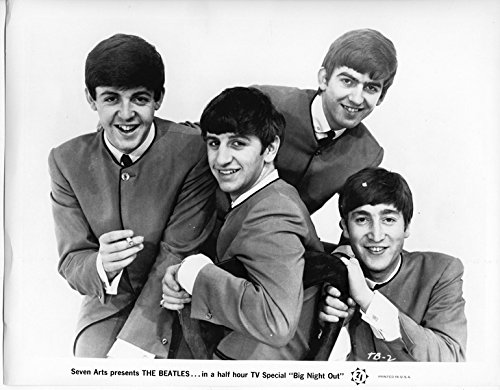 The Beatles Big Night Out Original 8x10 Photo 1964 Fab Four Smiling Portrait
