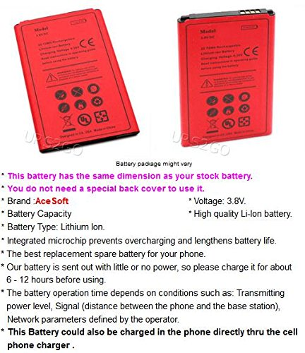 Long Lifespan 2400mAh Standard Rechargeable Excellent Battery for LG X Style L56VL Straight Talk/TracFone/Net10 Android Phone