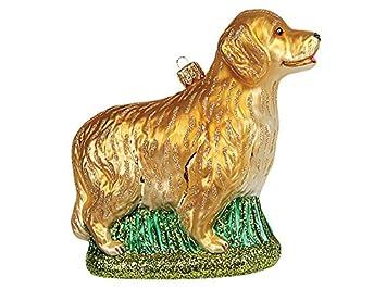 Christbaumschmuck Weihnachtskugel Hund Golden Retriever Amazon De