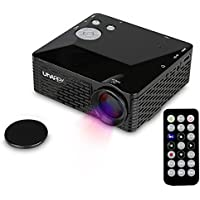 Portable Uhappy U18 Mini LED projector Mini Projector HD LCD Home Cinema Theater Movie Projector Video Projector Compatible for Phone