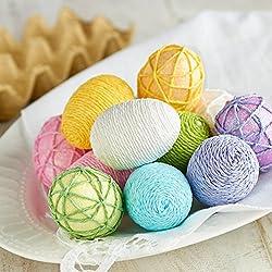 12 Assorted Pastel Styrofoam Easter Eggs for Easter and Spring Decor