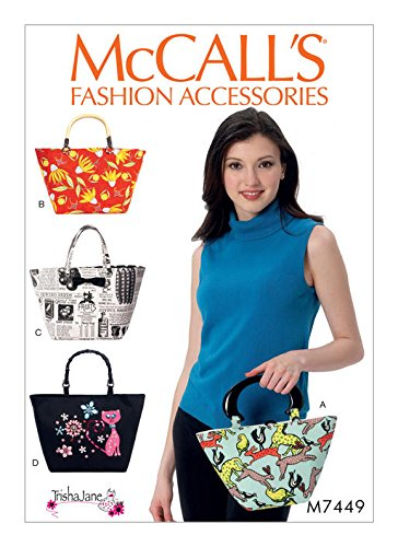 MCCALLS M7449 Handle Bags and Totes SEWING PATTERN