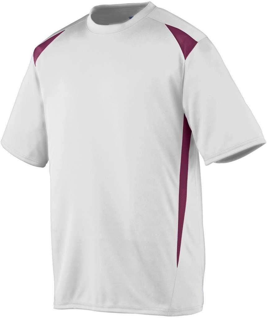 Augusta Sportswearメンズプレミアクルー B00E1YSW5Q Large|ホワイト/マルーン ホワイト/マルーン Large