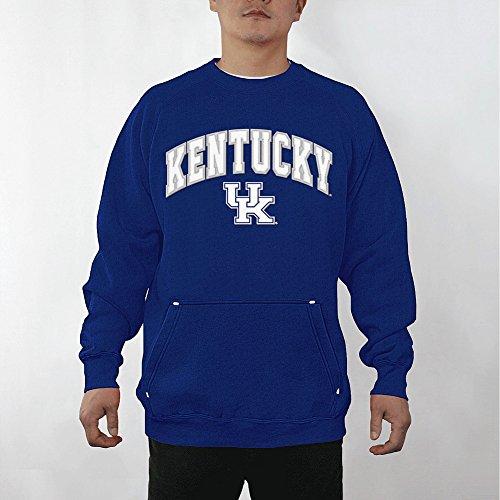 Elite Fan Shop Kentucky Wildcats Crewneck Sweatshirt Captain Blue - L