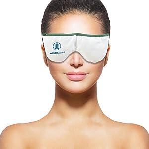 WilsonWares Eye Masks   Microwave heating pad for eyes, Use this moist heating pad as eye pillow, warm compress or sleep mask   Moisturizes eyelids   Washable, Microwavable & Reusable & Self-Hydrating