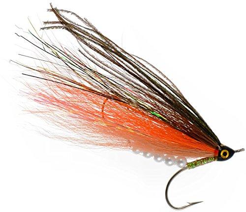 PEETZ Root Beer 4-Inch Pro Grade McFly Fly Fishing Lure | Deceiver Streamer Bucktail Clouser Wet Freshwater Saltwater | Pike Bass Perch Walleye Salmon Trout Dorado Tarpin Bonefish