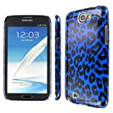 EMPIRE Slim Fit Blue Leopard Case for Samsung Galaxy Note 2 II