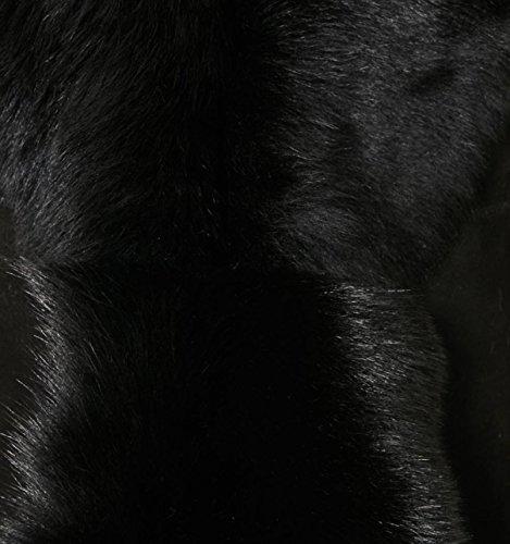 sin de de o ante de Mujeres Black chaleco de oveja mangas piel con oveja Tama Chaleco Sude cadera Calentador de f7YfIawqx