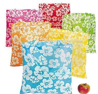 (Hawaiian Beach Bags (12) for Luau, Pool Party, Party Favor)