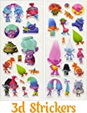 Trolls Action Figures Wild Hair| Set of 6| 3-inches tall| 3D Stickers| Poppy, Branch, Biggie, Fuzzbert, DJ Suki and Guy Diamond|Treasure trolls| Best Gift for Kids|Cake Toppers By Alpha-One Sellers
