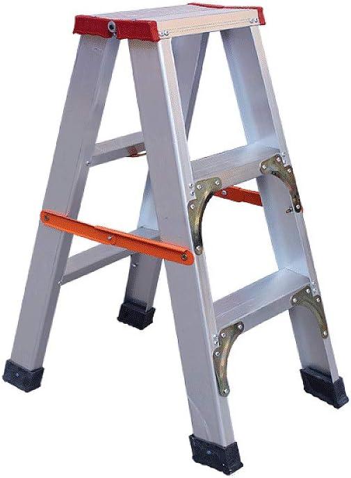 LJJTDS Escalera Gruesa Plegable de Aluminio, Multiusos, Escalera Plegable, se Puede Ampliar, con Goma de Seguridad, Almohadilla Antideslizante, Escalera de Nieve para Techo: Amazon.es: Hogar