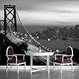 excellent city wall mural Black and White Golden Gate Bridge San Francisco City Wallpaper Mural