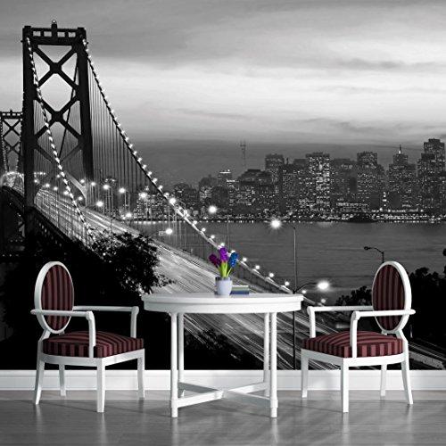 Black and White Golden Gate Bridge San Francisco City Wallpaper Mural