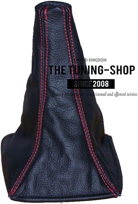colore: Rosso The Tuning Shop Ghetta in pelle perforata con cuciture rosse