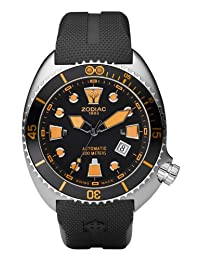Zodiac Oceanaire Automatic Rubber Divers Mens Watch ZO8012