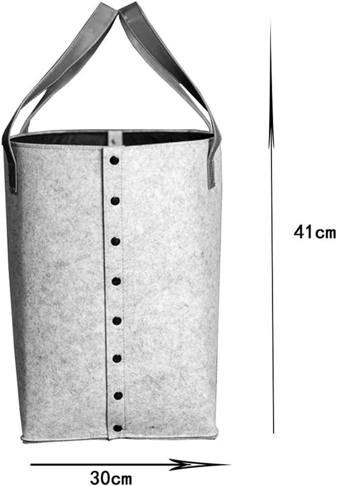 Couleur : Gray, taille : 30 * 41cm Panier /À Linge Panier De Rangement Sale Entrave Corbeilles /À Linge V/êtements Stockage Barils De Stockage /À La Maison De Tissu De Feutre Pliable GAOFENG