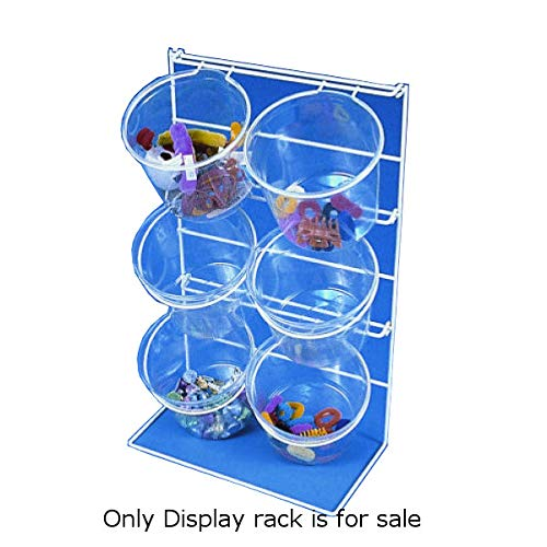 6 Jar Counter Top Display Plastic Rack 22 inch H - Lot of 2 by Counter Display