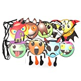 Halloween Party Decorations Paper Triangle Letter Cartoon Balloon Flag Fashion Dress Up Accessories Soul House KTV Decoration