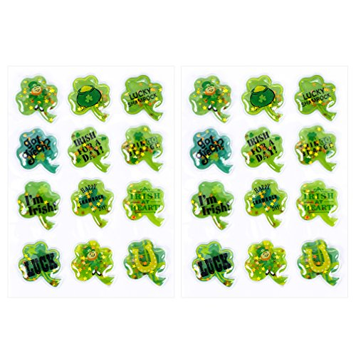 (Hallmark 5SSS1028 Stickers, Confetti Shamrocks)