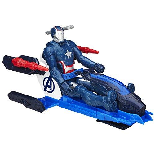 Marvel Avengers Titan Hero Series Iron Patriot Figure with Arc Thruster Jet Vehicle