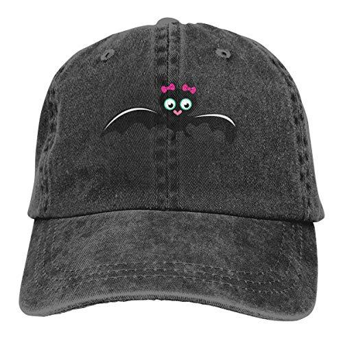 ASDGEGASFAS Baseball Cap Cute Bat Girl Halloween Cotton Adjustable Peaked Dyed Cap Washed Cowboy Hat ()