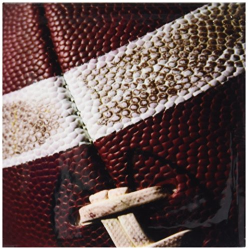 Rikki Knight American Football Close-Up Design Art Ceramic Tile, 4 by 4-Inch American Ceramic Tile