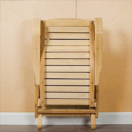 HONGTA Sedia Pieghevole per Il Tempo Libero reclinabile Adulto Balcone Sedia a Dondolo in bambù Sedia Pausa Pranzo per Anziani Sedia pigra,Brown