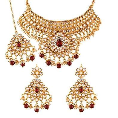 Hair & Head Jewelry Fashion Style Gold Tone Kundan Heavy Maag Tikka Indian Wedding Bridal Ethnic Fashion Jewellery Moderate Cost