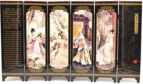 Jiu Bu Máscara De La ópera De Pekín, Pantalla, Laca Antigua, 46.5 × 24 × 0.6cm, Oficina, Accesorios para El Hogar,L: Amazon.es: Hogar