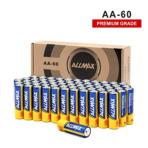 ALLMAX All-Powerful Alkaline Batteries-AA (60-Pack)-Premium Grade-Ultra Long Lasting and Leak-Proof, Powered by EnergyCircle