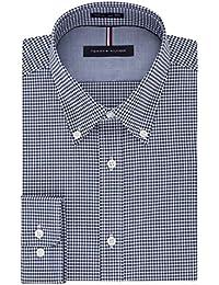 Men's Non Iron Slim Fit Gingham Buttondown Collar Dress...