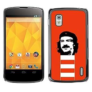 TopCaseStore / la caja del caucho duro de la cubierta de protección de la piel - Che Guevara Revolution Portrait Communism - LG Google Nexus 4 E960
