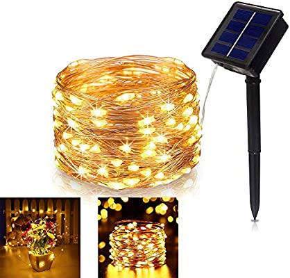 Outdoor Solar Fairy String Lights 100LED Copper Wire Waterproof Garden Christmas