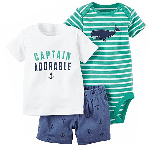 Evelin LEE Baby Boy Cotton Short Sleeve Shirt and Shorts 2pc