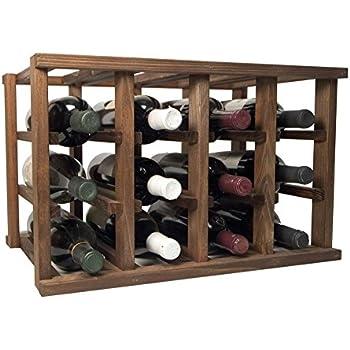 stackable wine bottle rack unfinished premium redwood12 bottle