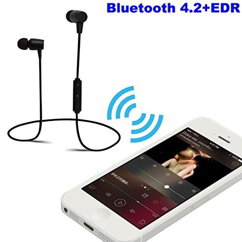 Creazy Wireless Bluetooth Headset Stereo Headphone Earphone Sport For iPhone (Black)