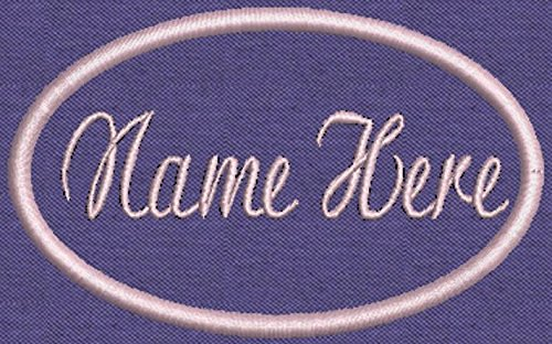 2 Oval Custom Embroidered Name Patch - 4