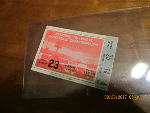 (1972 NCAA Basketball Championship SemiFinals Ticket Stub em UCLA)