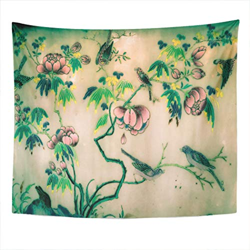 Bangkok Halloween 2019 (Meofo Tapestry Wall Hanging 50x60 Inch Bangkok Thailand May 18 2019 Tree Original Watercolor Bird Polyester Dorm Apartments Bedrooms Living Beach Blankets Curtains Picnic)
