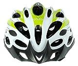 Cockatoo Professional Multi-Colour Cycling Helmet, Skating Helmet (White:Green, Large)