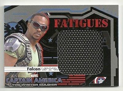 [2014 Upper Deck CAPTAIN AMERICA Winter Soldier Fatigues Costume F7 FALCON] (Galactica Costumes)