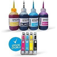 EPSON 1281-1284 UYUMLU Kolay Dolan Kartuş SETİ (DOLU) - BX305FW/ S22/ SX130/ SX230/ SX235/ SX420/ SX425/ SX430/ SX435/ SX440/ SX445