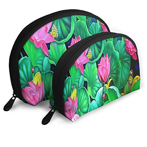 Makeup Bag Murali Butterfly Portable Shell Clutch Pouch For Mother Halloween Gift 2 Pack