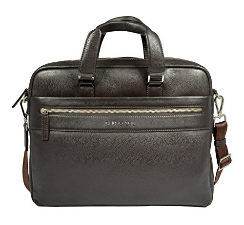 Cross Men's Genuine Leather Slim Briefcase for Office / Business / Laptop (Oak Brown) (Belt Gucci Men Replica)