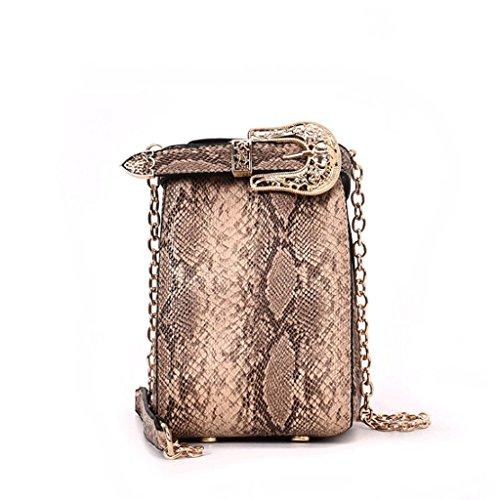 GJ Bolso Crossbody - Mini Bolso Crossbody Femenino Bolso de Ocio Bolsas de Viaje Bolsos de Señora de Moda (Color : Caqui) Caqui